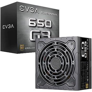 EVGA 220-G3-0650-Y2  SuperNOVA 650 G3, 80 Plus GOLD 650W, Completamente Modulare, Eco Mode Con Il Nuovo HDB Ventilatore, 7 Anni Garanzia, Include Power ON Self Tester, Compatto 150mm Misura