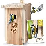 wildtier herz Nichoir Oiseaux Exterieur pour Ménagère & Co. - Maison Oiseaux, Nichoir en Bois, Nichoir Mésange - Niche Oiseau