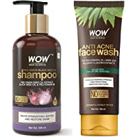 WOW Skin Science Red Onion Black Seed Oil Shampoo With Red Onion Seed Oil Extract, Black Seed Oil And WOW Skin Science…