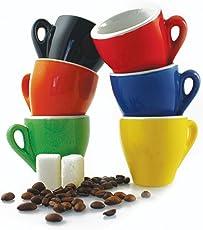 Galileo Casa Color Set Tazzine da Caffè, Porcellana, Multicolore, 6x6x6 cm, 6 Unità