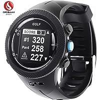 DREAM SPORT Montre Golf GPS avec Parcours de Golf, Montre de Suivi de Golf avec Télémètre/Obstacle/Carte de Pointage/Distance de Tir DGF 3 (noir)