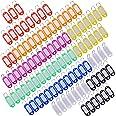 Multi-couleurs Porte-clés Bagages ID Tags Étiquette en Plastic avec Porte-Clés, 100 Pièces