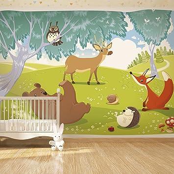 Tapete kinderzimmer tiere  murando - Fototapete 350x245 cm - Vlies Tapete - Moderne Wanddeko ...