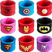 Sinwind Bracelets Enfants, Super-héros Bracelets,9 Slap Bracelets pour Enfants Slap Bracelets Cadeau pour Fête d…