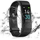 24HOCL Smart Watch Fitness Tracker, Fitness Bracelet with Temperature Measurement Heart Rate Sleep Monitor, Waterproof Sports