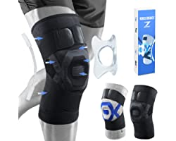 ZOUYUE Knee Support Brace,1 Pack Compression Knee Sleeves with Patella Gel Pads for Arthritis, Joint Pain, Ligament Injury, M