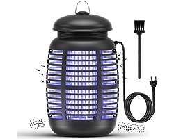 Mksutary Lampe Anti Moustique Électrique, 15W UV Moustique Tueur Anti Insectes Répulsif Attrape Bug Zapper, Efficace Portée 8