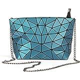 Hot One - Borsa a tracolla geometrica a catena per donna, borsa da donna (5 # blu metallizzato)