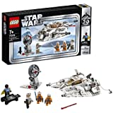 LEGO Star Wars Snowspeeder, Edizione 20° Anniversario, Collezione con Luke Skywalker, Dak Ralter, Rebel Trooper e Lando Calrissian, 2 Blaster, Pistola Blaster e Spada Laser, Set di Costruzione, 75259