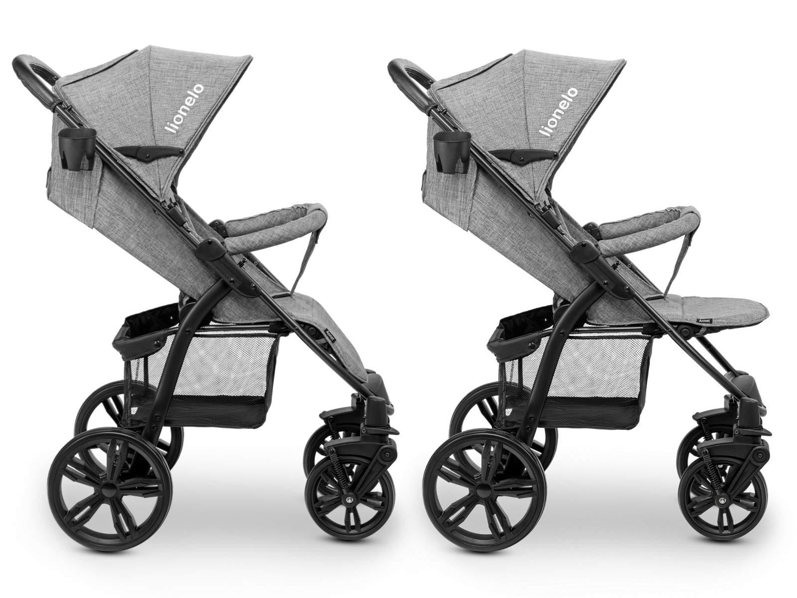 Lionelo 5902581656278 LO-Annet Concrete Stroller Pushchair (Light-Gray)   8