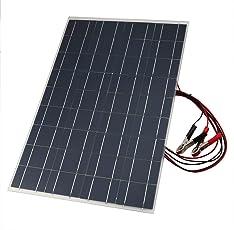 LoveOlvido Solarladegerät, 18 V, 30 W, flexibel, tragbares Solarmodul, mit Akku-Ladekabel, Krokodilklemme