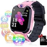 YENISEY Smartwatch per Bambini con Lettore Musicale - Gioco Puzzle Telefono SOS Smart Watch con Scheda SD Sveglia Fotografica
