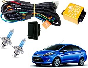 Autopearl H4 Headlamp Wiring Harness Kit for Old Ford Fiesta (Set of 3)