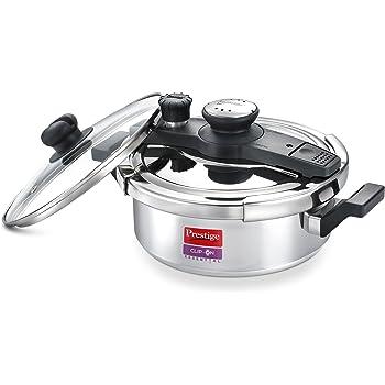 Prestige Induction Base Aluminium Pressure Cooker, 3 litres, Silver