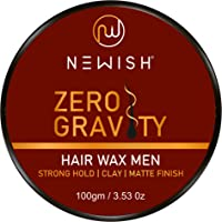 Newish® Hair Wax Men Strong Hold 100gm   Clay Hair Wax for Men   Matte Finish   Hair Style, Shine   Extra Strong Hold…