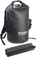 Semptec Urban Survival Technology Wasserdichter Packsack: Wasserdichter Trekking-Rucksack aus LKW-Plane, 40 Liter, Schwarz, IPX6 (Gewebeplane-Rucksack)