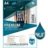 SKULLPAPER A4 Transferfolie für DUNKLE Stoffe und Tintenstrahldrucker - inkl. 200+ Motive (8 Blatt)