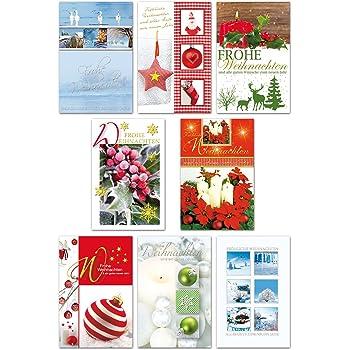 Weihnachtskarten Plus.10 Weihnachtskarten Mit Umschlag Amazon De Bürobedarf Schreibwaren