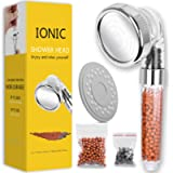 Ionic Shower Head Handheld High Pressure Water Saving 3 Modes Adjustable Filter Showerhead for Hard Water Low Water…