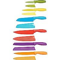 Amazon Basics Set de couteaux colorés 12 pièces