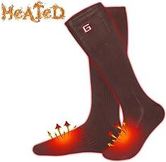 Elektrische beheizte Socken Kit Unisex warme Thermische Socken Akku Fußwärmer Winter ideale Geschenke für Männer Frauen perfekt für Indoor Outdoor Sport Angeln/Wandern / Schlafen3.7V