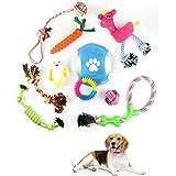 Trongle Giochi per Cani, Cucciolo di Cotone Giocattoli da Masticare per Cani di Piccola o Media Taglia, Set di Corde per Cani