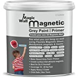 MagicWall Magnetic Paint / Primer | Paint That attracts Magnets | 1 Liter ( Covers 18 Sq. Ft. with 3 Coats ) | Colour ( Dark
