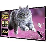 Écran de Projection Écran Projection 4K HD 3D 16: 9 100 Pouces Pliable Portable Écran Projection Double Face Projection…