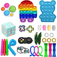 Toddler Adult Teens Fidget Toys Stress Relief Hand Toys Office /& Desk Push Pop Bubble Sensory Toys Fidget Toys for Autistic Children Color Triangle MiaoWu 4 Pack Simple Dimple Toy Backpack