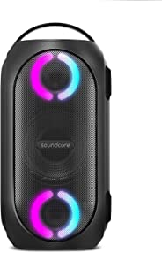 Anker Soundcore Rave Mini Portable Party Speaker, Huge 80W Sound, Fully Waterproof, USB Charger, Beat-Driven Light Show, App