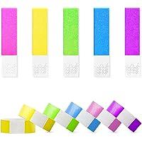 Lot de 100 bracelets d'entrée imperméables de 19 mm pour contrôle et sécurité lors d'événements et d'événements (couleur…