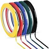 Jalan Whiteboard plakband, Graphic Chart Tape, zelfklevend, 5 kleuren gesorteerd, 3 mm x 66 m per rol, verpakking van 5 rolle