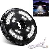 [Aggiornato] Lampada Ombrellone da Giardino Wireless Ricaricabile USB con 28 LED, 2 Modalità di Illuminazione, Durata…