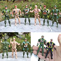 WIN86haib Decoration Parts Toys 9cm Mini Kids Plastic Military Soldier Model Army Men Figure Toy Home Decor