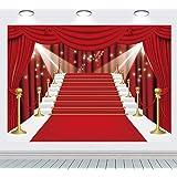 INRUI Cortina roja escenario fotografía fondo Hollywood cumpleaños telón de fondo rojo alfombra película roja cortina estrell