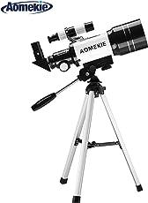 Aomekie Astronomisches Teleskop F50060M Refraktor Teleskop Fernrohr mit Ausziehbares Aluminium Stativ und Rucksack für Kinder Einsteiger Amateur-Astronomen für um Himmelsbeobachtung und Landschaftsbeobachtung