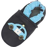 Carozoo Chaussures d'intérieur en cuir pour bébé/enfant avec semelle souple (16 designs)