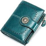 Portafoglio Donna Grande, Portamonete con Cerniera, Portafoglio con Protezione RFID, Porta Carte di Credito Tasche Pelle (blu