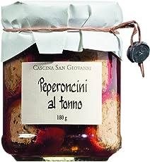Cascina San Giovanni Peperoncini farciti al tonno, Kirschpaprika mit Thunfischfüllung