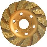 Gunpla 105 mm x 22,2 mm 4 tum betong turbo diamant slipskiva hjul 12 segs kopp murverk granit sten skärning kraftigt verktyg