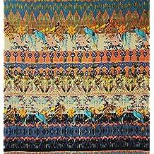 45 Amplia india multicolor Material de tela de algodón arte de costura artesanal de tejidos por 1 Peice