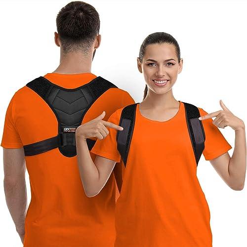 Correttore di postura per uomini e donne, supporto lombare per clavicola, raddrizzatore lombare regolabile e fornisce sollievo dal dolore da collo, schiena e spalle, approvato dalla FDA (Universal)