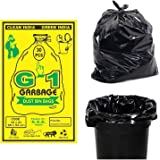 G 1® Black Garbage Bags 19 X 21 Inch | 4 Packs of 30 Pcs - 120 Bags | Disposable Dustbin Bags Medium Size for Home…