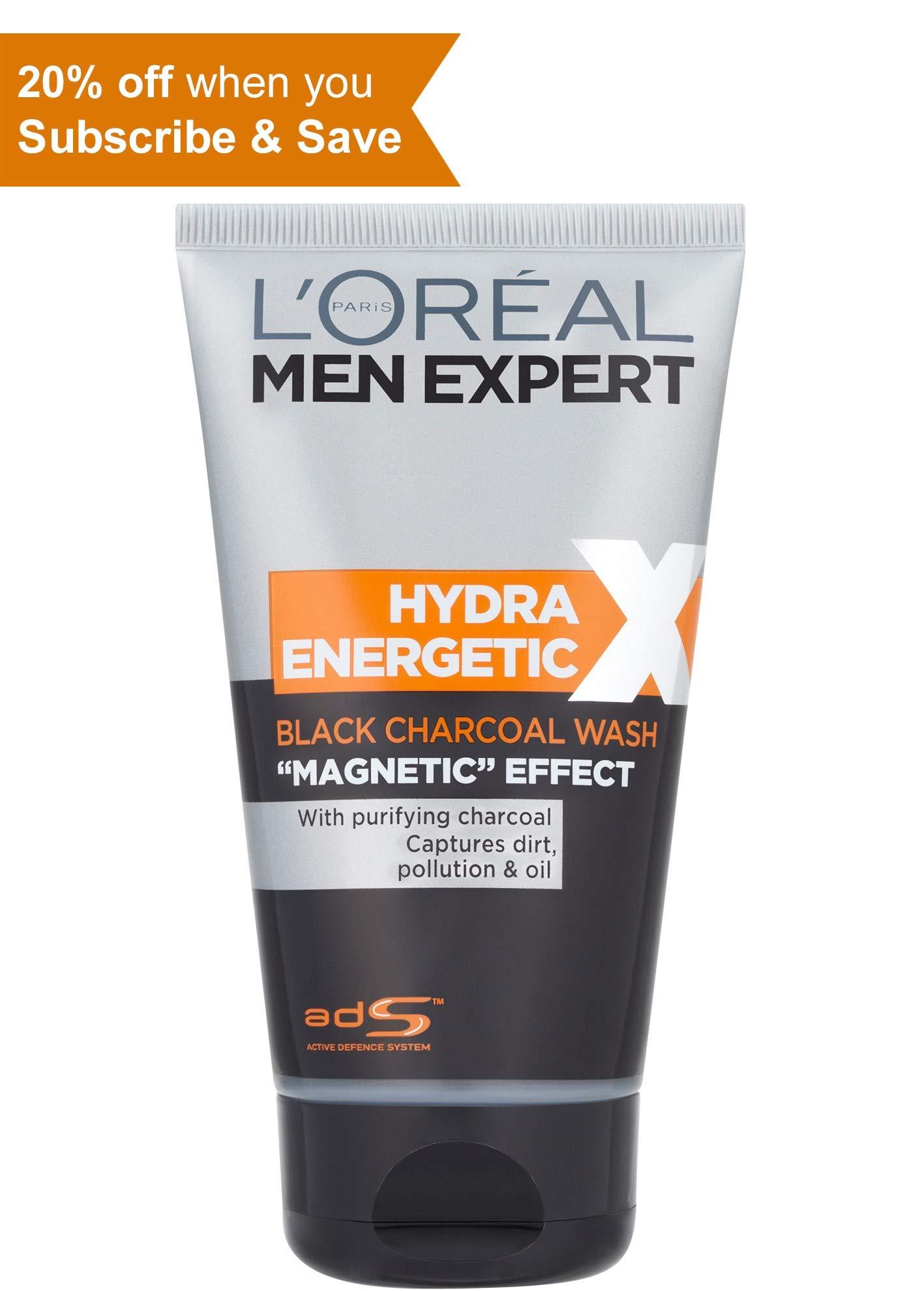 L'Oreal Men Expert Hydra Energetic París Xtreme Gel Limpiador 150ml Carbón magnética