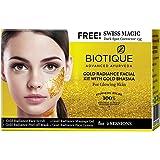 Biotique Bio Gold Radiance Facial Kit With Gold Bhasma, 75g