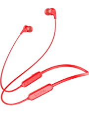 Infinity(JBL) Glide N100 Ultra Lightweight in-Ear Wireless Neckband with Dual EQ, Deep Bass and IPX5 Sweatproof (Passion Red)