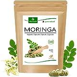 120 Moringa cápsulas 600mg o Moringa Energia Tabs 950mg - Oleifera, vegetariano, Producto de calidad de MoriVeda (1x120 cápsu
