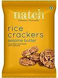 Natch Rice Crackers (Sesame Butter), 3 x 25 g