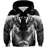 ALISISTER Unisex Niños 3D Hoodie Impresión Sudadera Capucha de Manga Larga Hooded Pullover Sweatshirt Outfits para 4-16Y