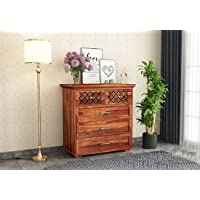 Ramwood Furniture Solid Wood Chest of Drawer for Bedroom   Storage Dresser with 5 Drawers Storage for Living Room…